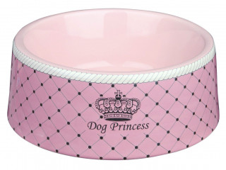 Керамическая миска Trixie Dog Princess для собак розовая, 0.18л